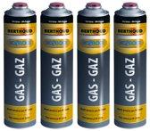 Hozelock 4 x gasfles voor onkruidbrander gas cartridge voor gasbrander