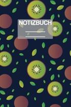 Notizbuch A5 Muster Kiwi: - 111 Seiten - EXTRA Kalender 2020 - Einzigartig - Liniert - Linie - Linien - Geschenk - Geschenkidee