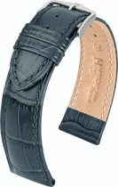 Hirsch Horlogeband -  Duke Grijs - Leer - 18mm