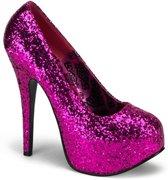 Teeze-06G Pink glitter - (EU 37 = US 7) - Bordello