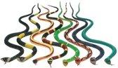3x Plastic speelgoed dieren slangen 30 cm - nepslangen speelfiguren