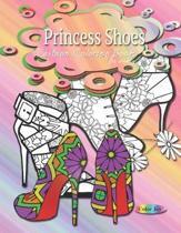 Fashion coloring books for women Princess shoes