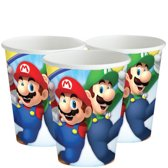 16 stuks kartonnen bekers Super Mario 250ml ®Pippashop