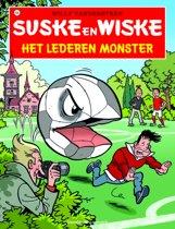Omslag van 'Suske en Wiske 335 - Het lederen monster'