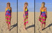 Pareo, sarong, strandlaken,hamamdoek, Danga Tulpen aan zee