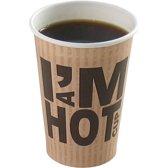 Koffiebeker I'M a HOT cup, karton met coating, 180cc, 93mm, 2000 stuks