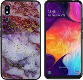 BackCover Marble Glitter voor Samsung A2 Core Rood