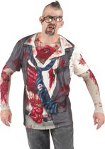 Fotorealistisch shirt Zombie (XL)