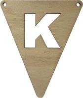 Houten Vlagletter K | 11,5 cm