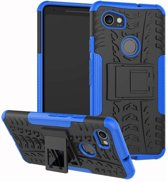 Google Pixel 2 XL hoesje - Rugged Hybrid Case - blauw