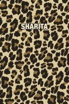 Sharita: Personalized Notebook - Leopard Print (Animal Pattern). Blank College Ruled (Lined) Journal for Notes, Journaling, Dia
