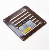 Gavo Schoepenrooster aluminium bruin 15.5 x 15.5cm (Prijs per stuk)