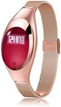 SmartWatch-Trends SWTz18 Smartwatch voor Vrouwen met HartslagMeter- StappenTeller- CalorieMeter Bloeddrukmeter Zuurstofmeter - Roze - Polsomtrek 13 tot 20 cm