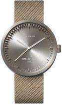 LEFF amsterdam tube watch D42 - Stainless Steel - Steel Case Sand Cordura strap - Ø 42mm - LT72003 - Quartz Movement
