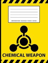 Chemical Weapon Warning Periodic Table Chemistry Composition Notebook