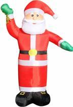 Opblaasbare kerstman met laagspanning LED verlichting en transformator -  180 cm hoog