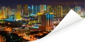 Kleurrijke verlichting in Manila Poster 40x20 cm - Foto print op Poster (wanddecoratie woonkamer / slaapkamer) / Aziatische steden Poster