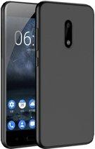 Nokia 6 Zwart Tpu siliconen case telefoonhoesje