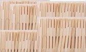 Cocktailvorkje Bamboe 9 cm - 300 stuks
