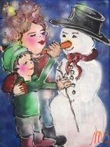 Set van 9 kerstkaarten