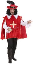 Musketier Kostuum | Musketier Dartagnan En Garde Rood Kostuum Man | XL | Carnaval kostuum | Verkleedkleding