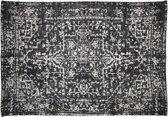 HSM Collection Vloerkleed - katoen - 230x160 cm - zwart/bruin