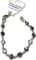 Zilveren armband met Paua schelpsteen