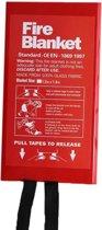 Branddeken + gratis pdf document over brandpreventie - 1.2m x 1.8m - blusdeken - voor frituurpan - voor personen te bedekken - ophangbaar - in pvc box