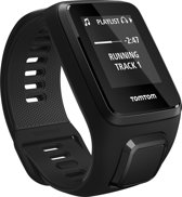 TomTom Spark 3 Cardio + Music + Headphone - Sporthorloge - GPS - Large - Zwart