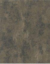 Nabucco uni zwart/goud behang (vliesbehang, goud)