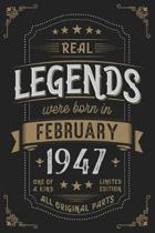 Real Legendes were born in February 1947