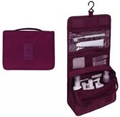 Toilettas Paars – Ophangbaar met Haak – Reis Travel Etui – Make Up Bag – Organizer voor Toiletartikelen