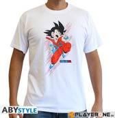 DRAGON BALL - Tshirt DB/ Goku young man SS white - basic