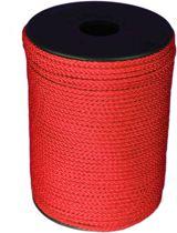 100 mtr - Touw - Rood - 3mm - Gevlochten Koord