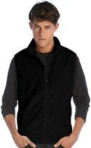 Fleece casual bodywarmer zwart voor heren - Outdoorkleding wandelen/zeilen - Mouwloze vesten M