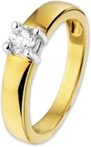 The Jewelry Collection Ring Zirkonia - Bicolor Goud