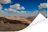 Wolken boven de Makhtesh Ramon in Israël Poster 120x80 cm - Foto print op Poster (wanddecoratie woonkamer / slaapkamer)