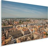 Uitzicht op de Franse stad Straatsburg Plexiglas 30x20 cm - klein - Foto print op Glas (Plexiglas wanddecoratie)