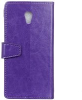 Celltex cover paars wallet case hoesje Vodafone Smart prime 7