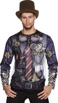 St. Fotorealistisch shirt Mr Steampunk (L)