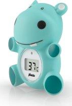 Alecto BC-11 Badthermometer nijlpaard | Nauwkeurige meting badwater- en kamertemperatuur | Blauw