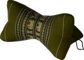Comfortabel Nekkussen en Meditatiekussen 16x30x16 cm Ster Groen