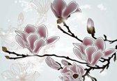 Fotobehang Flowers Magnolia Branch | XXL - 312cm x 219cm | 130g/m2 Vlies