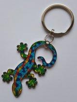 Barcino Design Sleutelhanger Gecko gekleurd klein