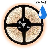 7,5 meter warm wit led strip waterproof IP67 - 60Leds/m - 24V - 3528