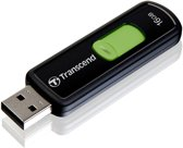 Transcend JetFlash 500 USB flash drive 16 GB 2.0 USB-Type-A-aansluiting Groen