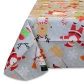Unique Living Christmas Party Tafelkleed - Grijs - 140x230 cm