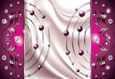 Fotobehang Pink Diamond Abstract Modern | L - 152.5cm x 104cm | 130g/m2 Vlies
