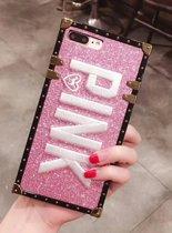 Stevig TPU glitter backcover - PINK - iPhone 7 / 8 - roze