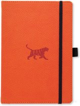Dingbats A5+ Wildlife Orange Tiger Notebook - Dotted